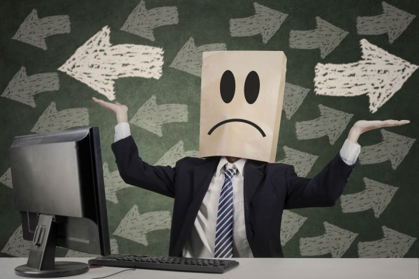 man with sad face emoticon