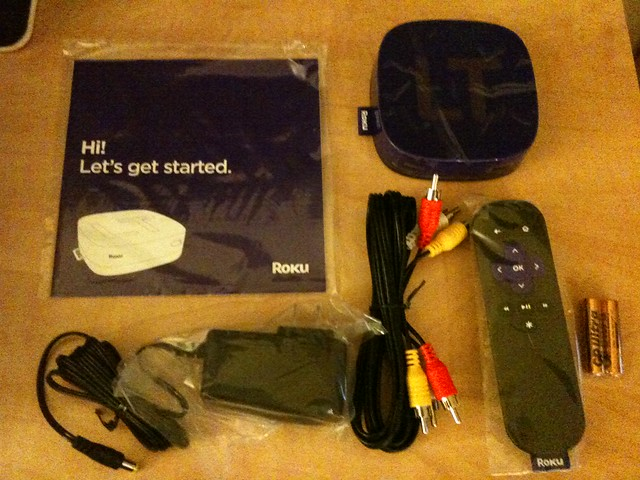 Roku startup guide and accessories